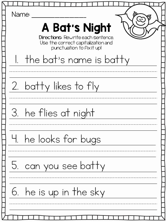 Printable Capitalization Worksheets Lovely Capital Letters Worksheets First Grade See the Category to