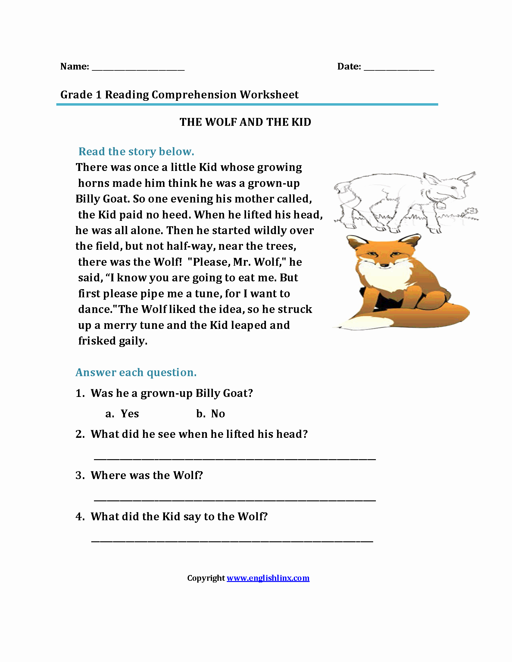 Printable First Grade Reading Worksheets Elegant Best Free Printable First Grade Reading Prehension