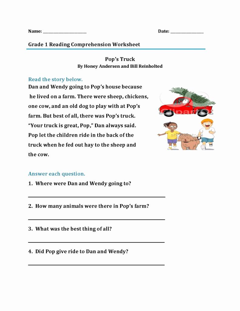 Printable First Grade Reading Worksheets Fresh 1st Grade Reading Worksheets Best Coloring Pages for Kids