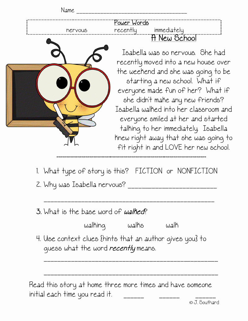 Printable First Grade Reading Worksheets Inspirational Worksheet Free Reading Prehension Worksheets for 1st