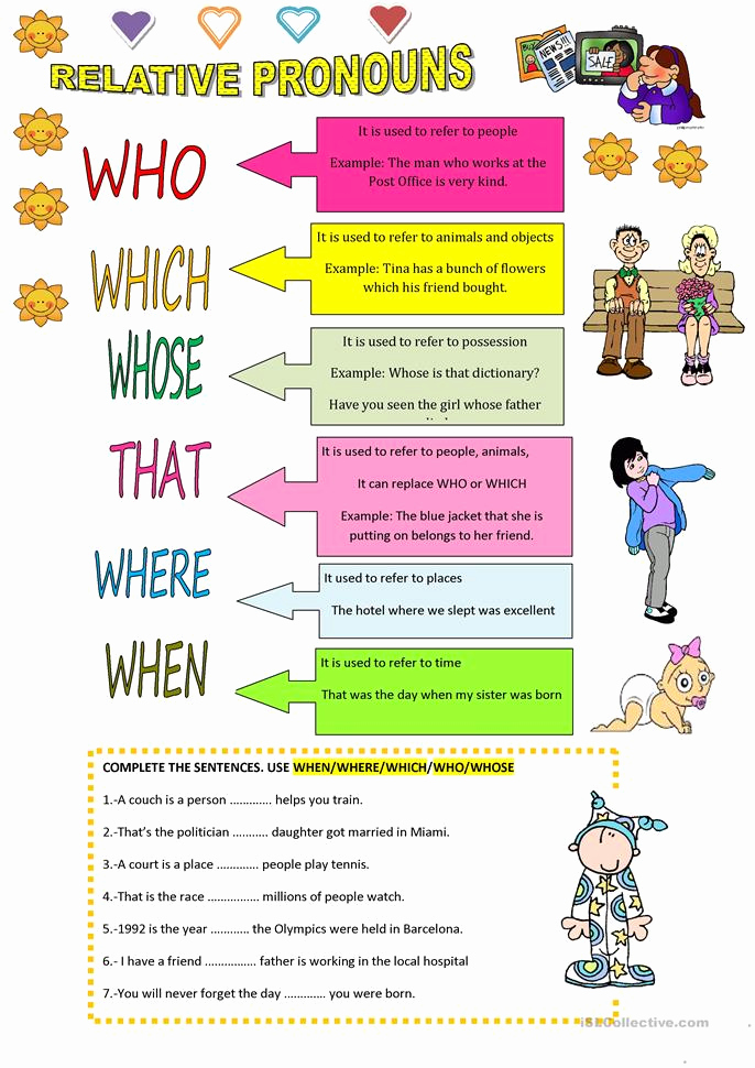 Printable Pronouns Worksheets Lovely Relative Pronouns Worksheet Free Esl Printable
