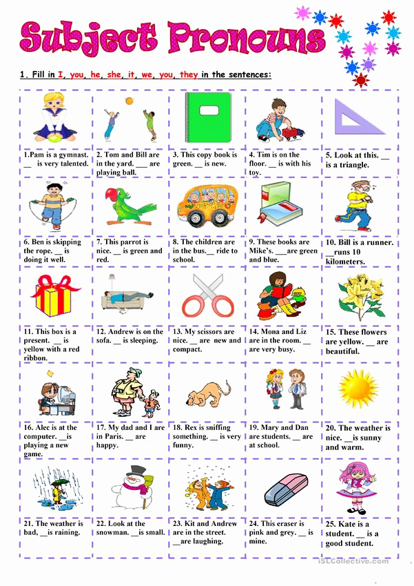 Printable Pronouns Worksheets Lovely Subject Pronouns Worksheet Free Esl Printable Worksheets