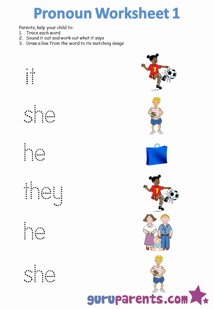 Printable Pronouns Worksheets New Pronoun Worksheets