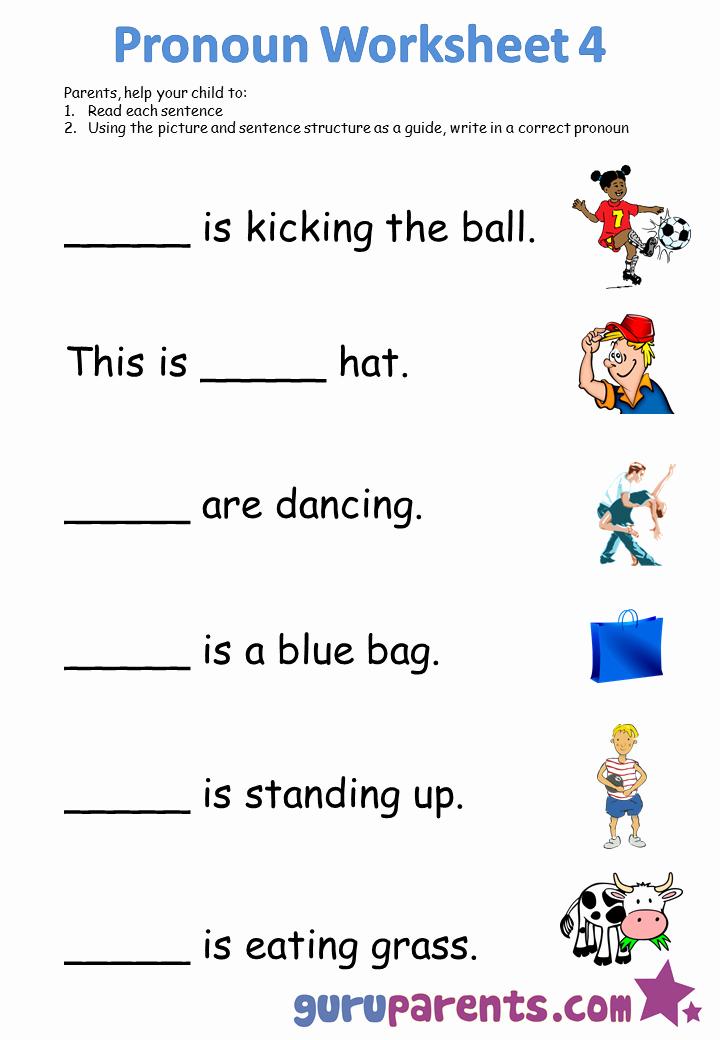 Printable Pronouns Worksheets Unique Pronoun Worksheets