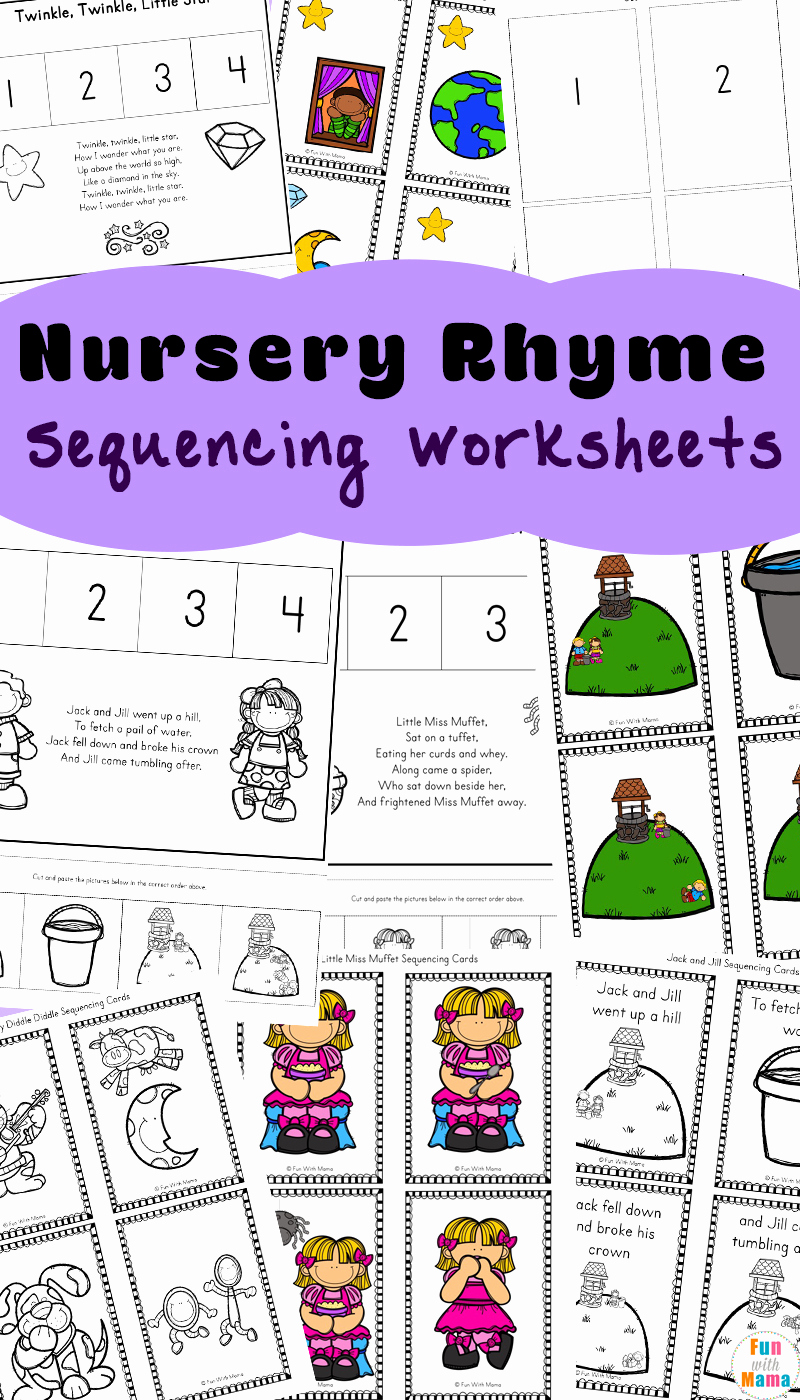 Printable Sequence Worksheets Luxury Free Nursery Rhymes Sequencing Activities Fun with Mama