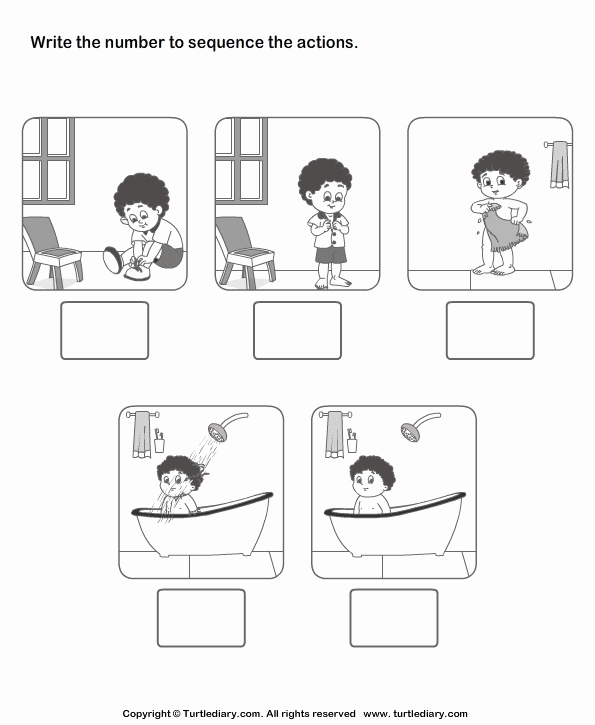 Printable Sequence Worksheets Luxury Picture Sequencing Boy Dressing Up Worksheet Turtle Diary