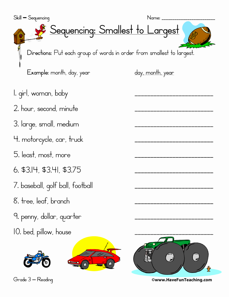 Printable Sequence Worksheets New Sequence Worksheets Page 2 Of 2