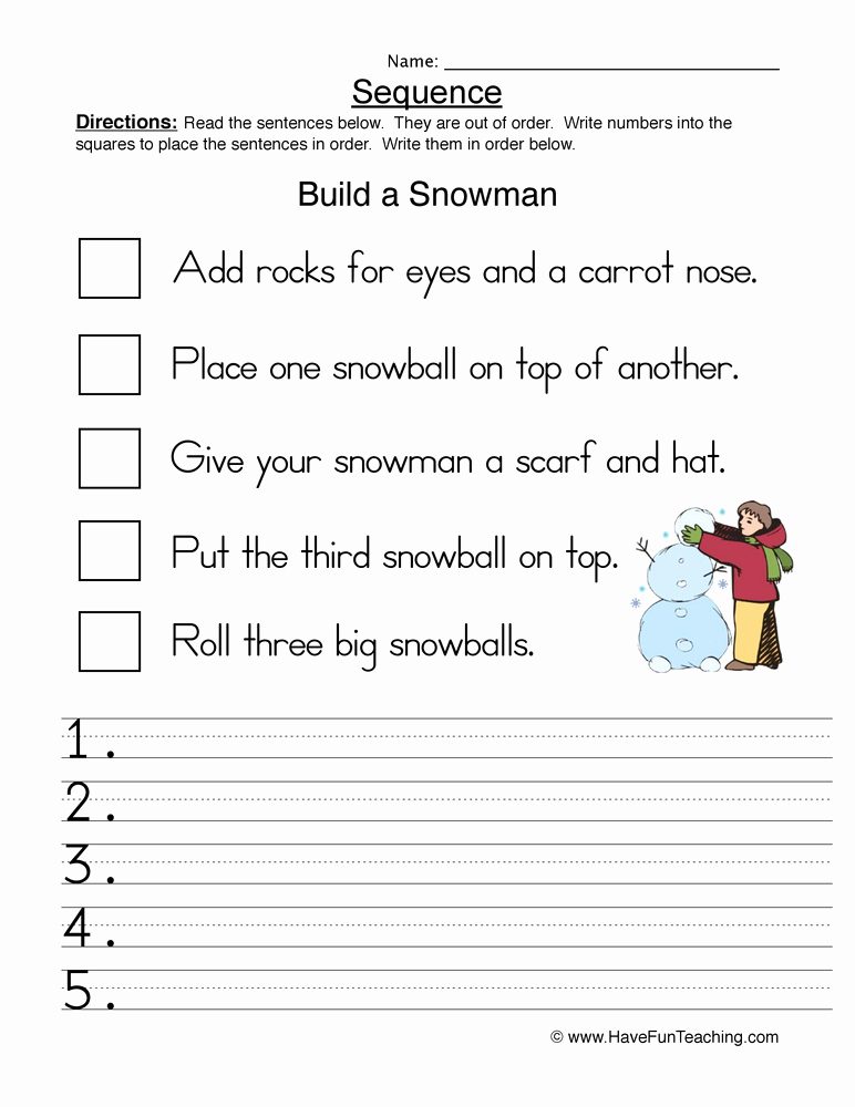 Printable Sequence Worksheets New Sequencing Worksheets