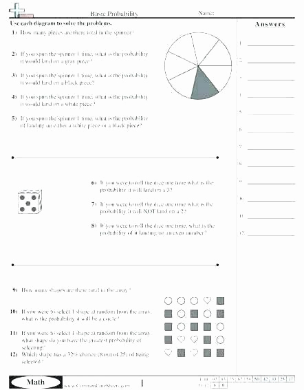 Probability Worksheets High School Pdf Lovely Pin On Examples Printable Preschool Worksheets