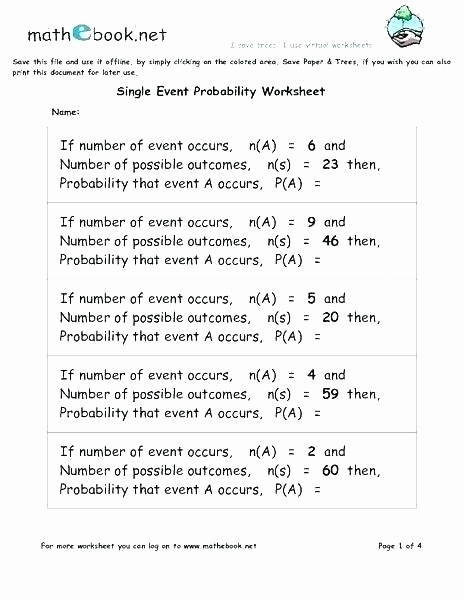 Probability Worksheets High School Pdf Unique Pin On Examples Printable Preschool Worksheets