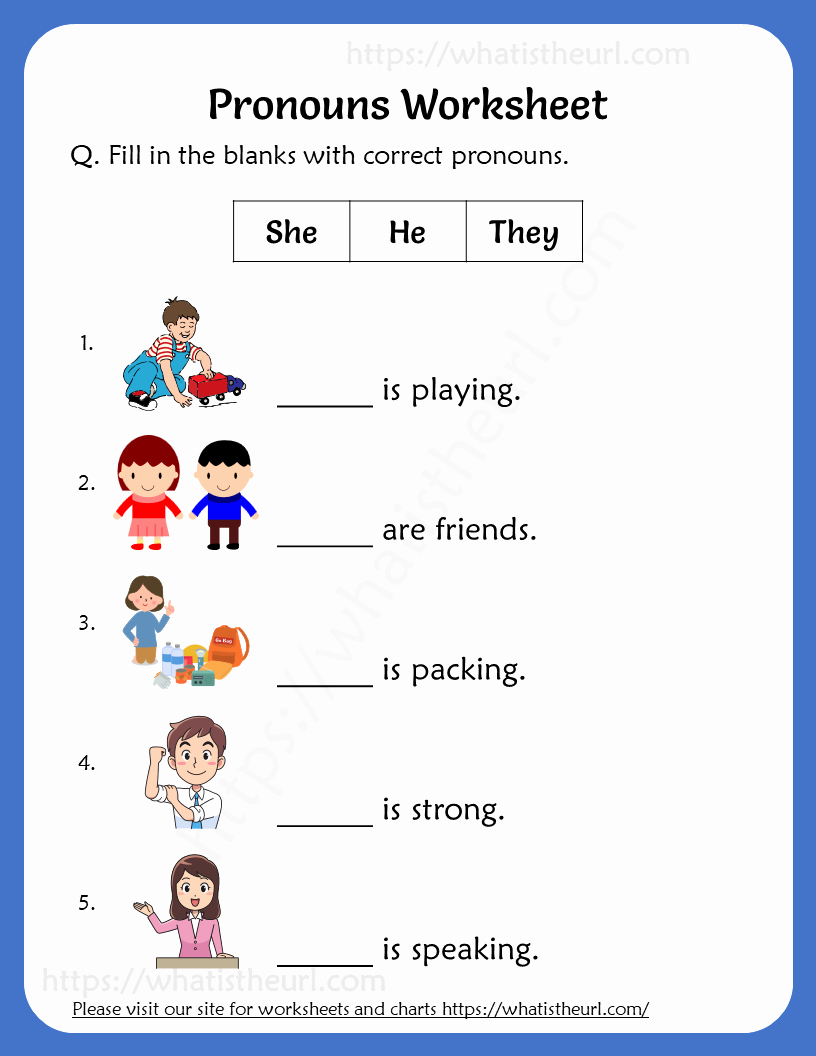 Pronoun Worksheet for 2nd Grade Elegant Pronouns Worksheets for 2nd Grade Your Home Teacher