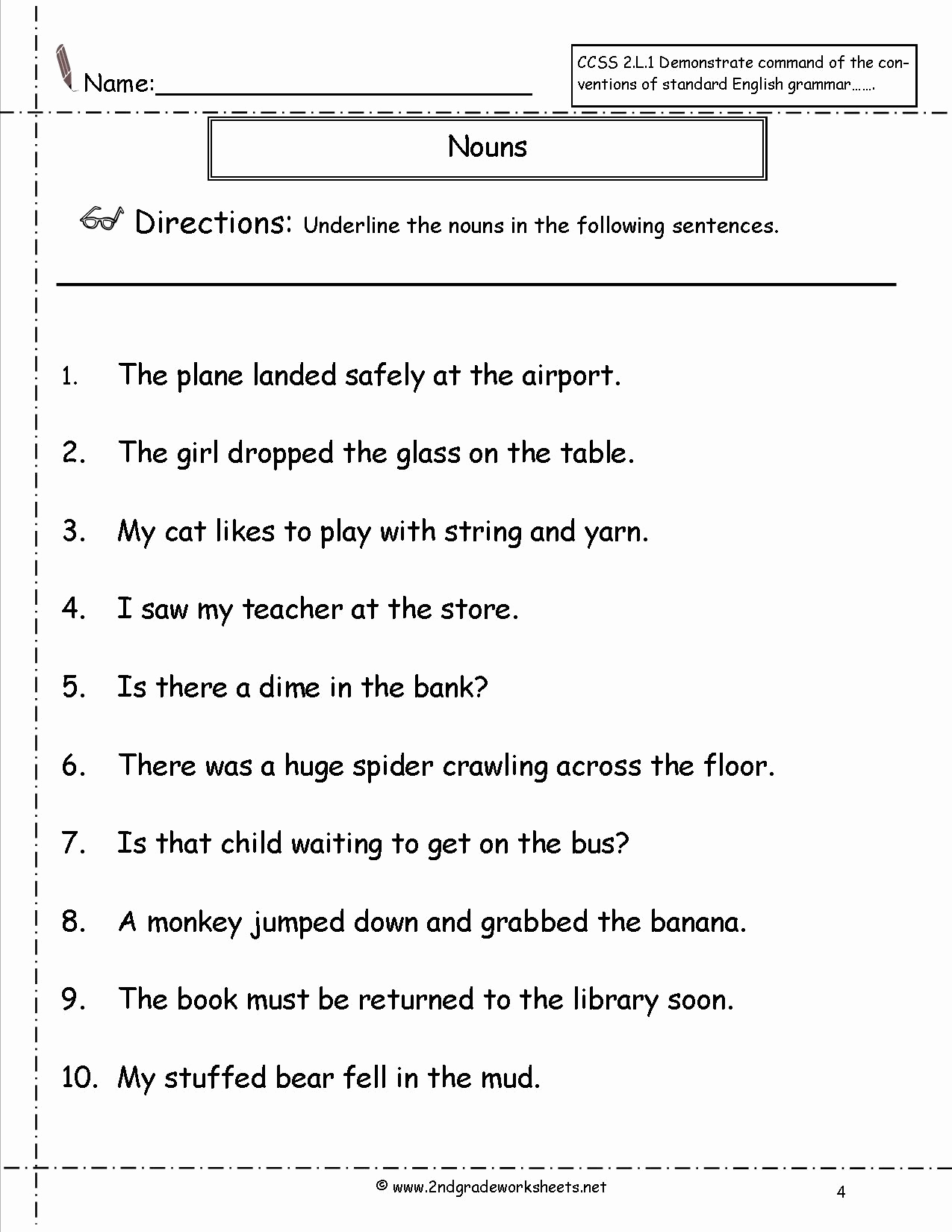 Pronoun Worksheets 2nd Grade Beautiful 20 Second Grade Pronouns Worksheet