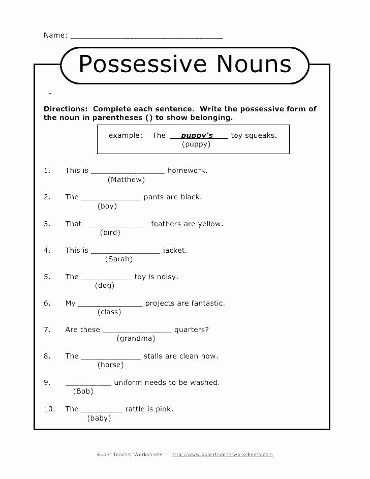 Pronoun Worksheets 2nd Grade Best Of 25 Possessive Pronouns Worksheet 2nd Grade