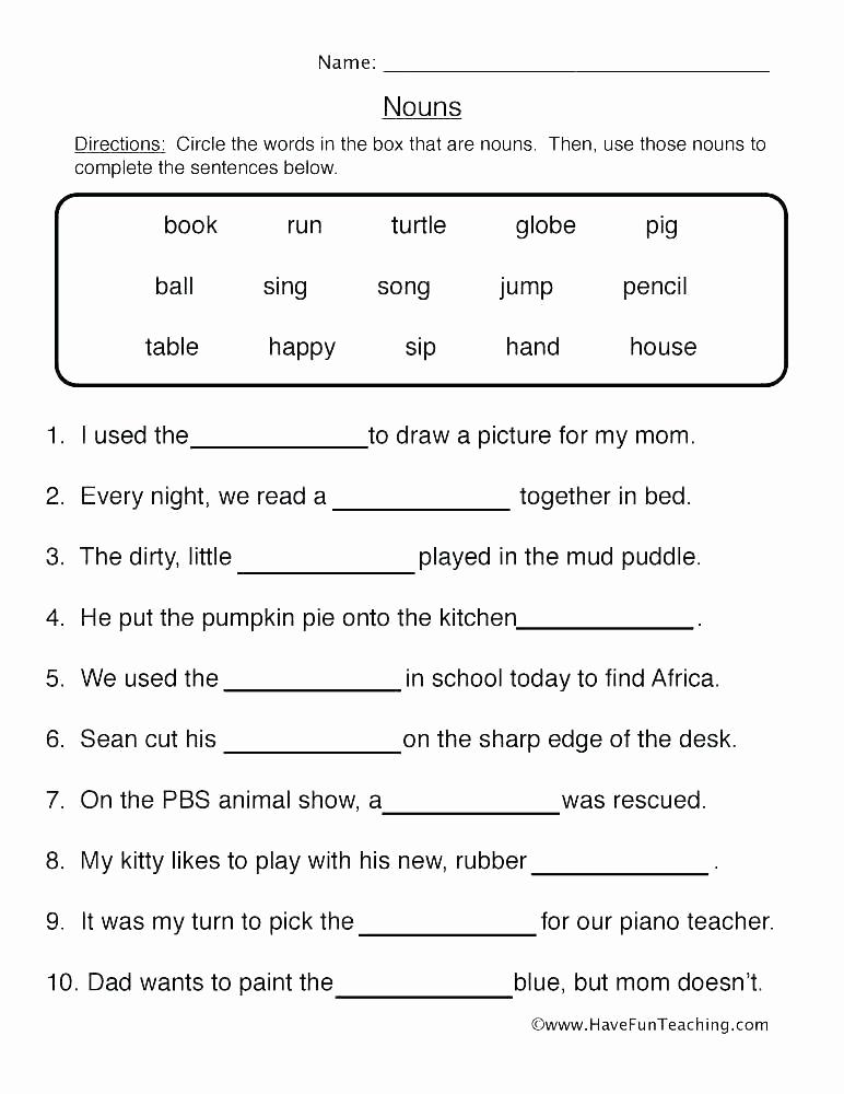 Pronoun Worksheets 2nd Grade New 20 Pronoun Worksheets 2nd Grade