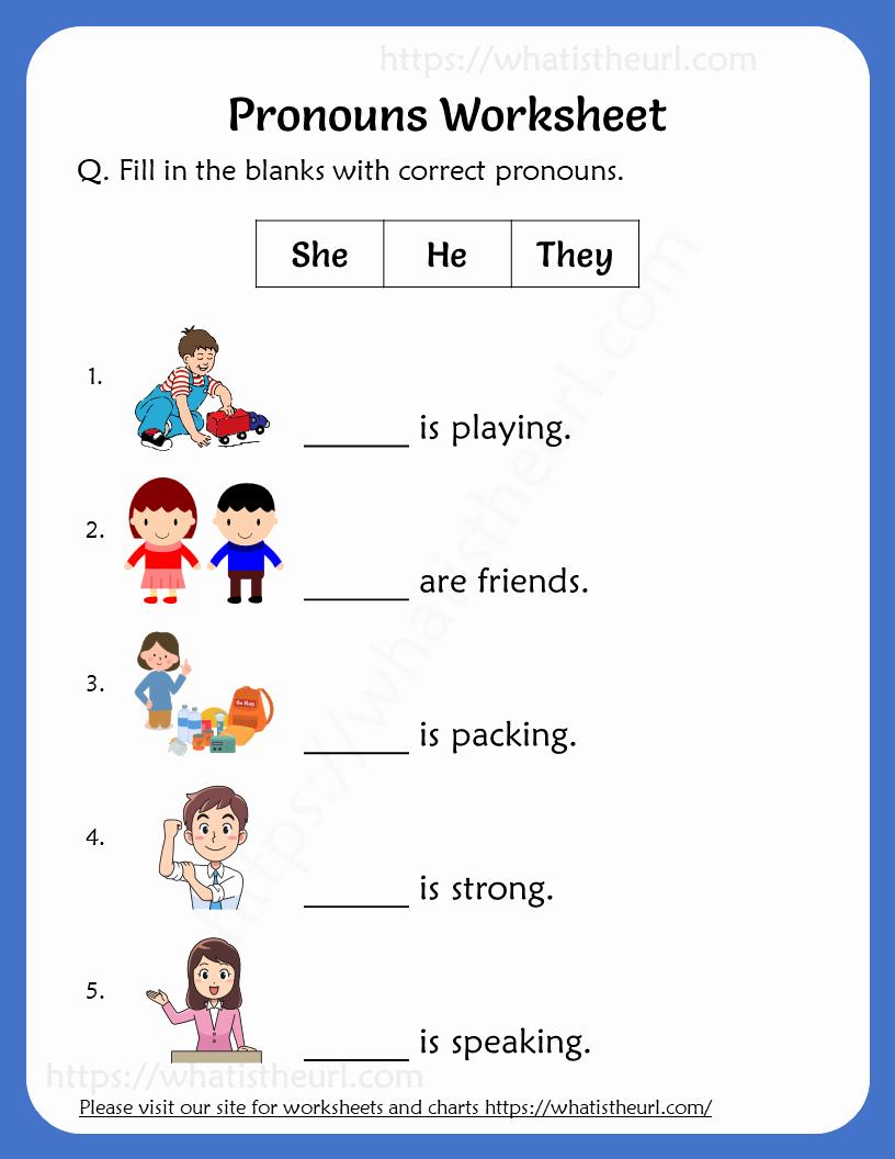 Pronoun Worksheets 2nd Grade Unique Pronouns Worksheets for 2nd Grade Your Home Teacher
