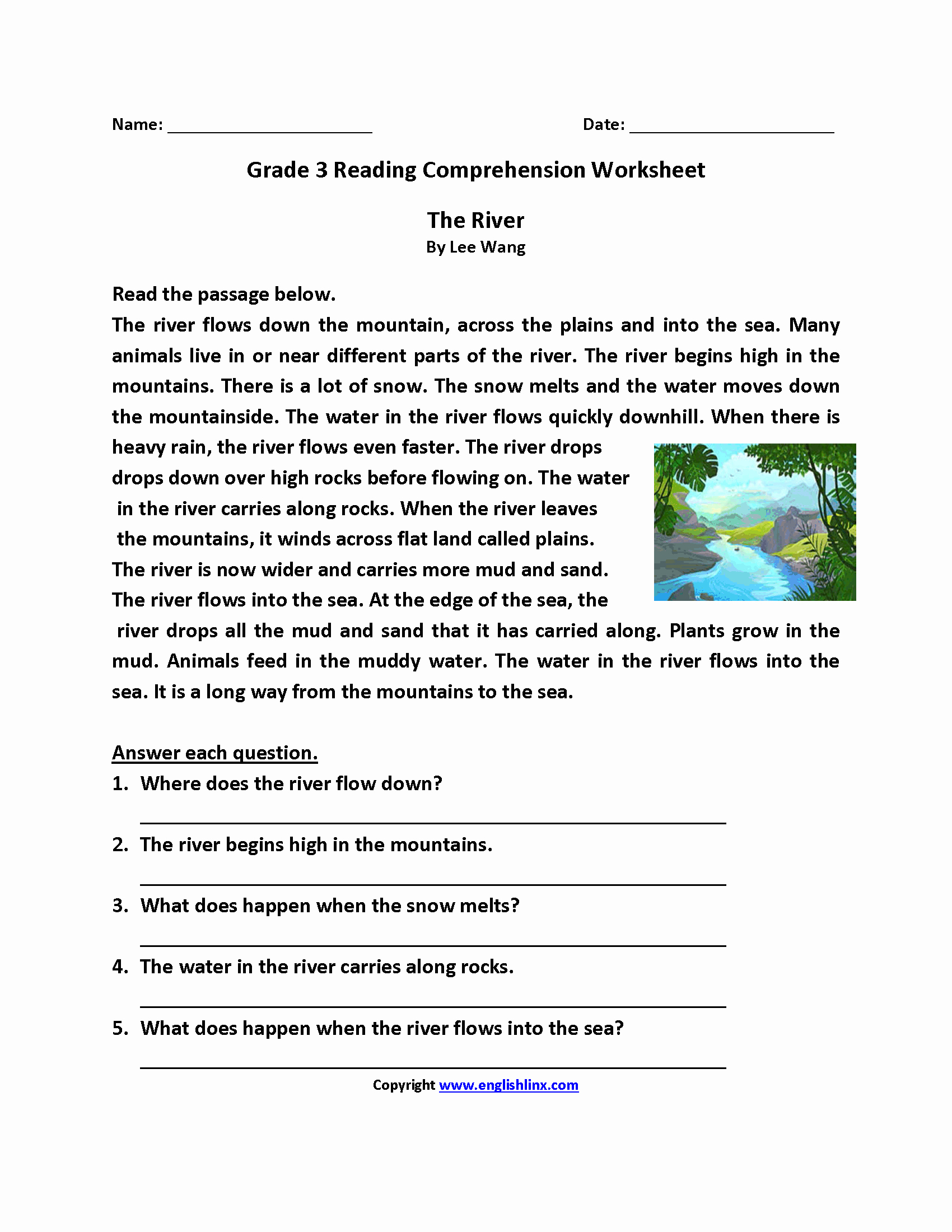 Proofreading Worksheets 3rd Grade Beautiful Prehension for Class 3 Worksheet thekidsworksheet