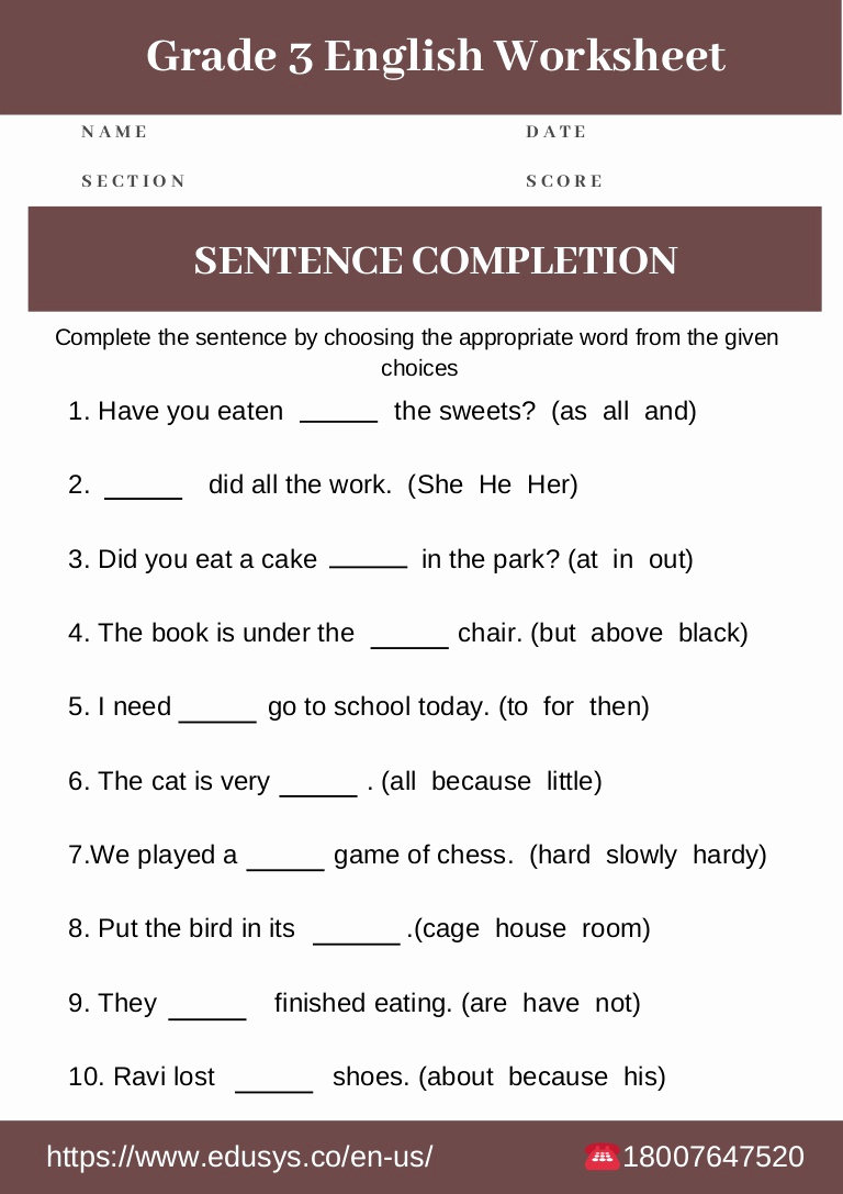 Proofreading Worksheets 3rd Grade Fresh 3rd Grade English Grammar Worksheet Free Pdf