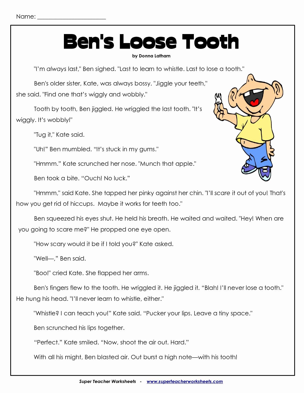 Proofreading Worksheets 3rd Grade Inspirational Reading Prehension for 3rd Grade Worksheets