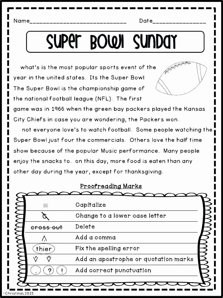 Proofreading Worksheets 3rd Grade Unique 20 Editing Worksheet 3rd Grade