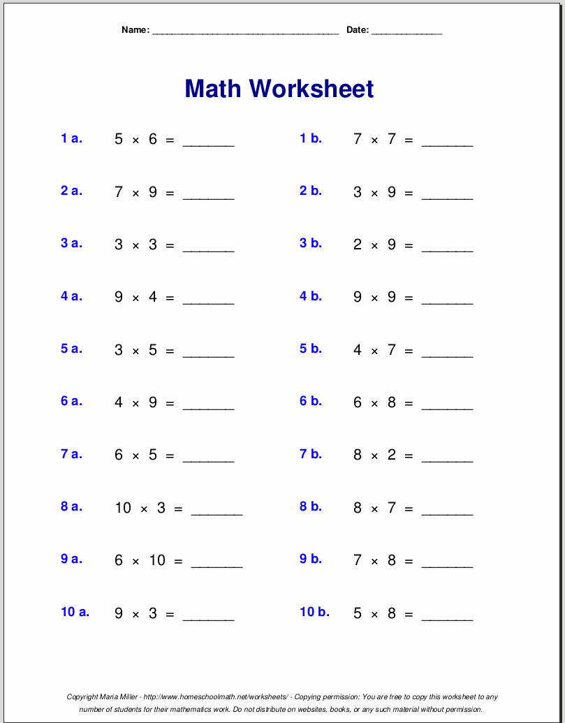 Quotation Worksheets 4th Grade Fresh Free Printable Multiplication Worksheets for 4th Grade