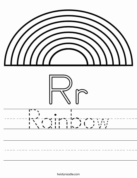 Rainbow Worksheets Preschool Beautiful R is for Rainbow Worksheet