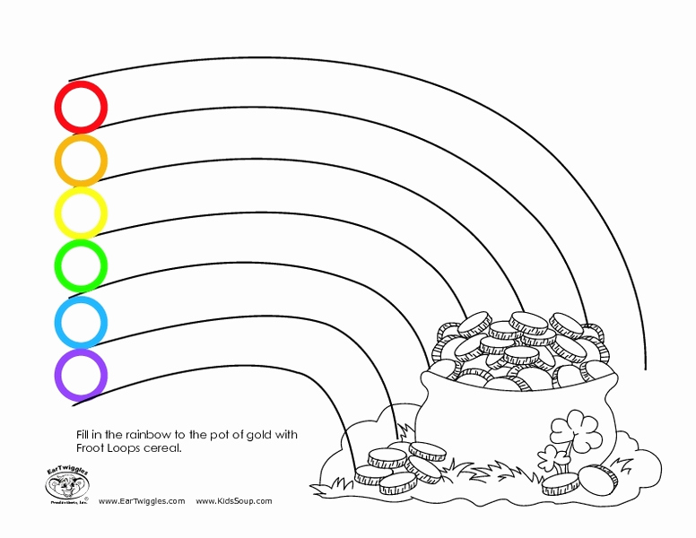 Rainbow Worksheets Preschool Fresh Fill In the Rainbow with Froot Loops Worksheet for
