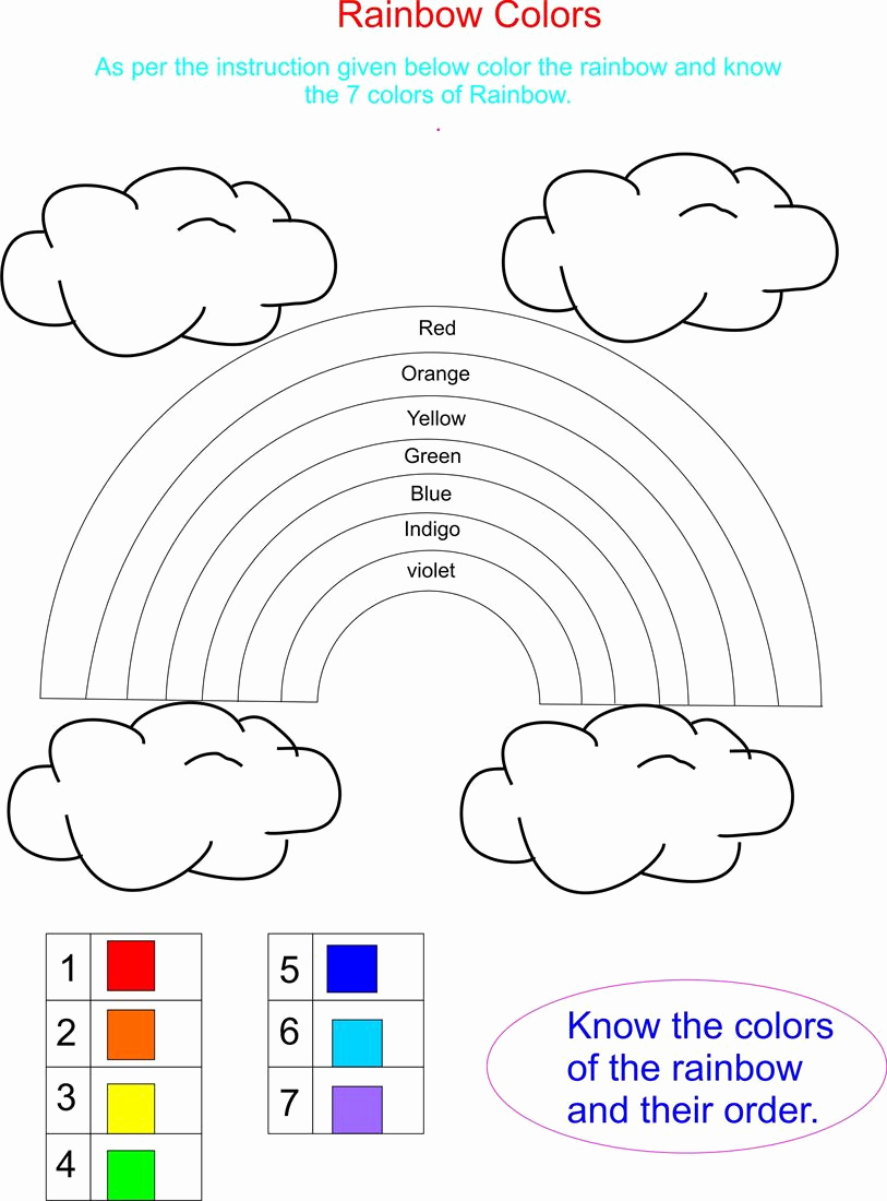 Rainbow Worksheets Preschool Inspirational Crafts Actvities and Worksheets for Preschool toddler and