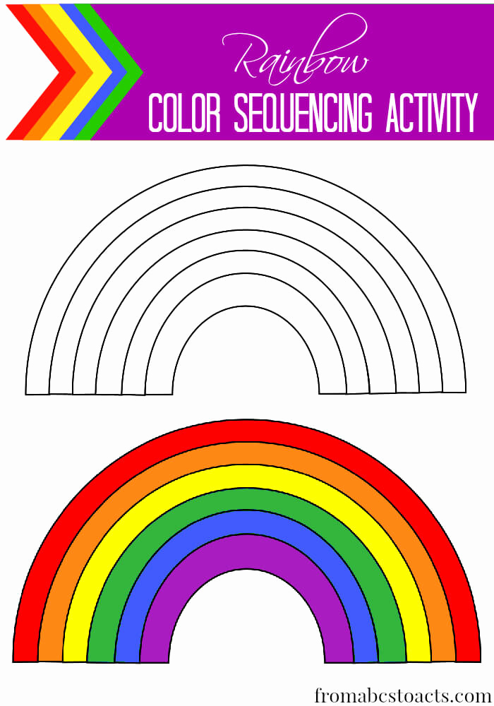 Rainbow Worksheets Preschool Inspirational Rainbow Color Sequencing Activity From Abcs to Acts