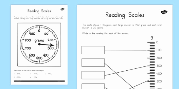 Reading Scales Worksheets Beautiful Reading Scales Worksheets Teacher Made