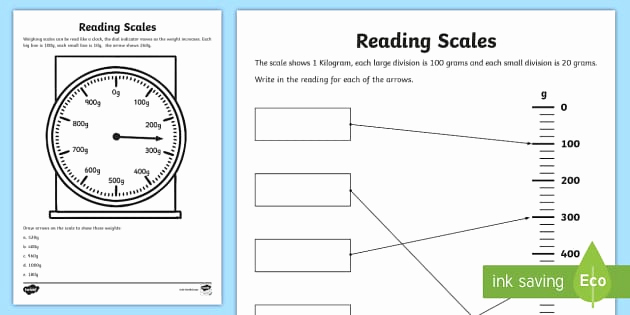 Reading Scales Worksheets Fresh Reading Scales Worksheet Math Resource Twinkl