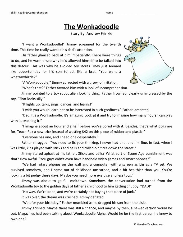 Reading Worksheets 5th Grade Elegant Fifth Grade Reading Prehension Worksheets Page 2 Of 8