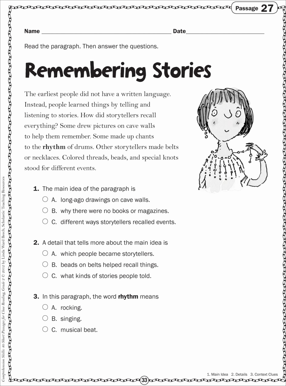 Reading Worksheets 5th Grade Fresh 10 Spectacular Main Idea Worksheets for 5th Grade 2020