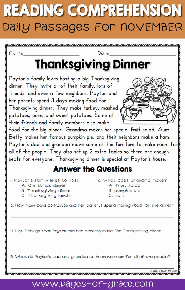 Reading Worksheets 5th Grade Unique Free 5th Grade Christmas Reading Prehension Worksheets
