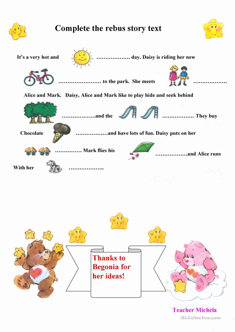 Rebus Story Worksheets Beautiful Rebus Story Text Worksheet Free Esl Printable Worksheets