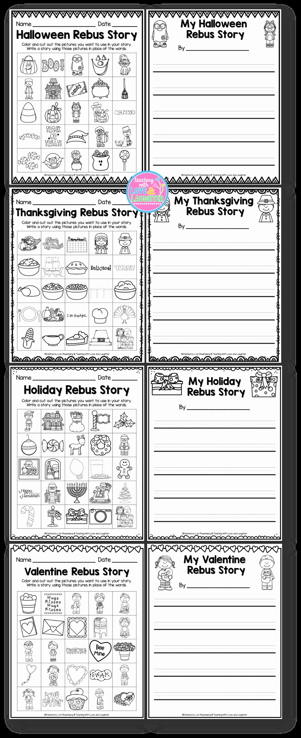Rebus Story Worksheets Best Of Holiday Rebus Stories