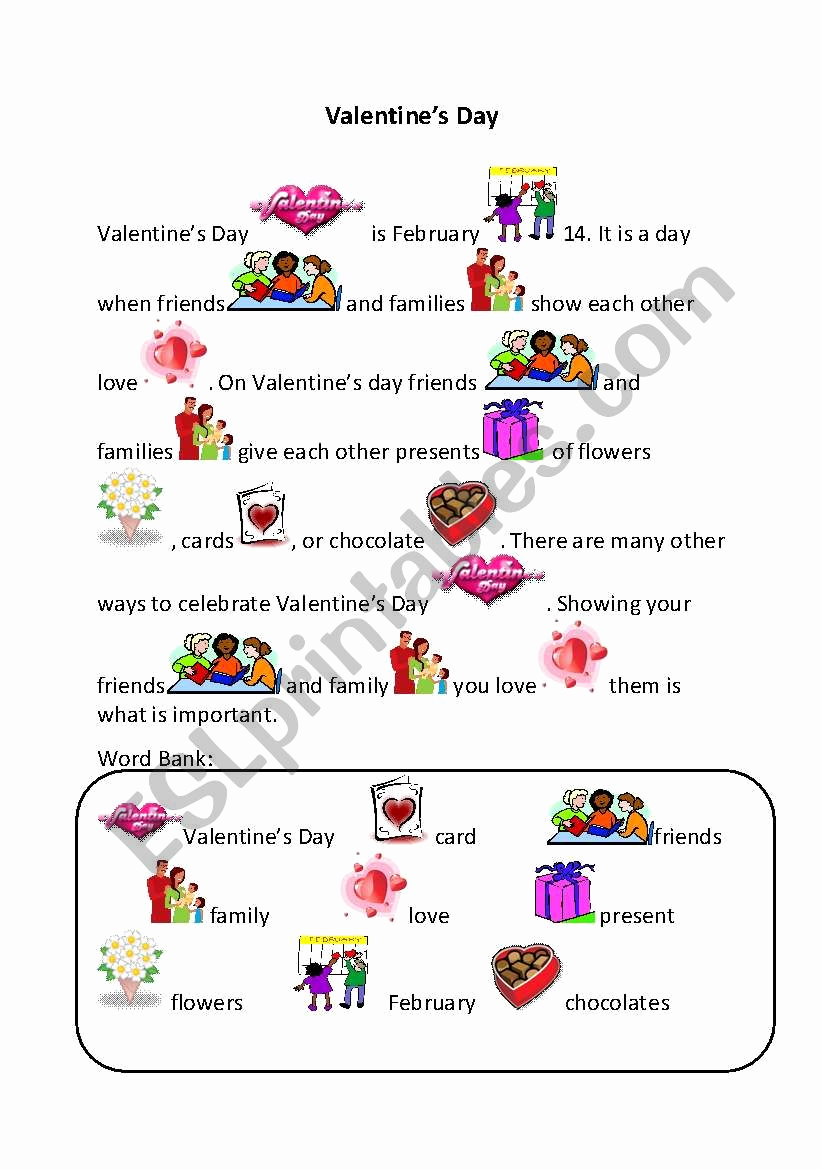 Rebus Story Worksheets Best Of Valentine´s Day Rebus Esl Worksheet by Creilly28