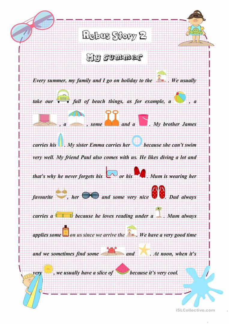 Rebus Story Worksheets Lovely Rebus Story 2 Worksheet Free Esl Printable Worksheets