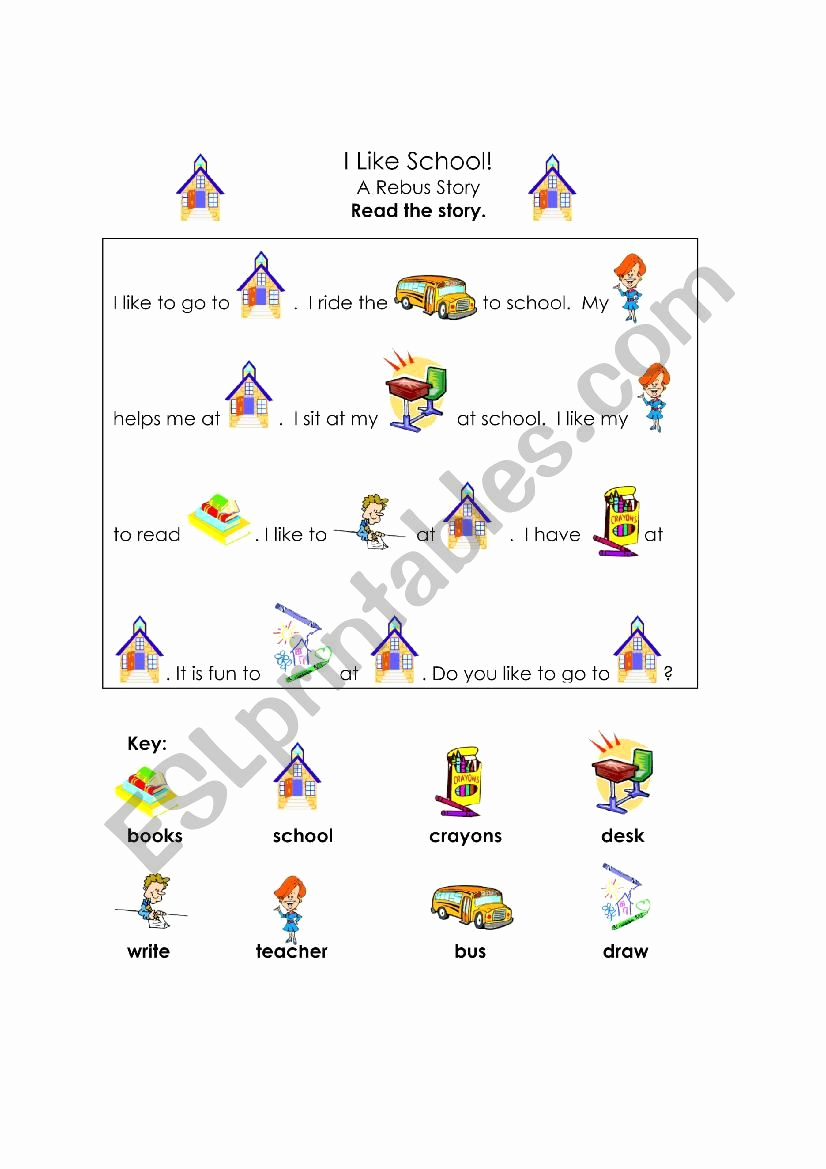 Rebus Story Worksheets Lovely Rebus Story Esl Worksheet by Tithi