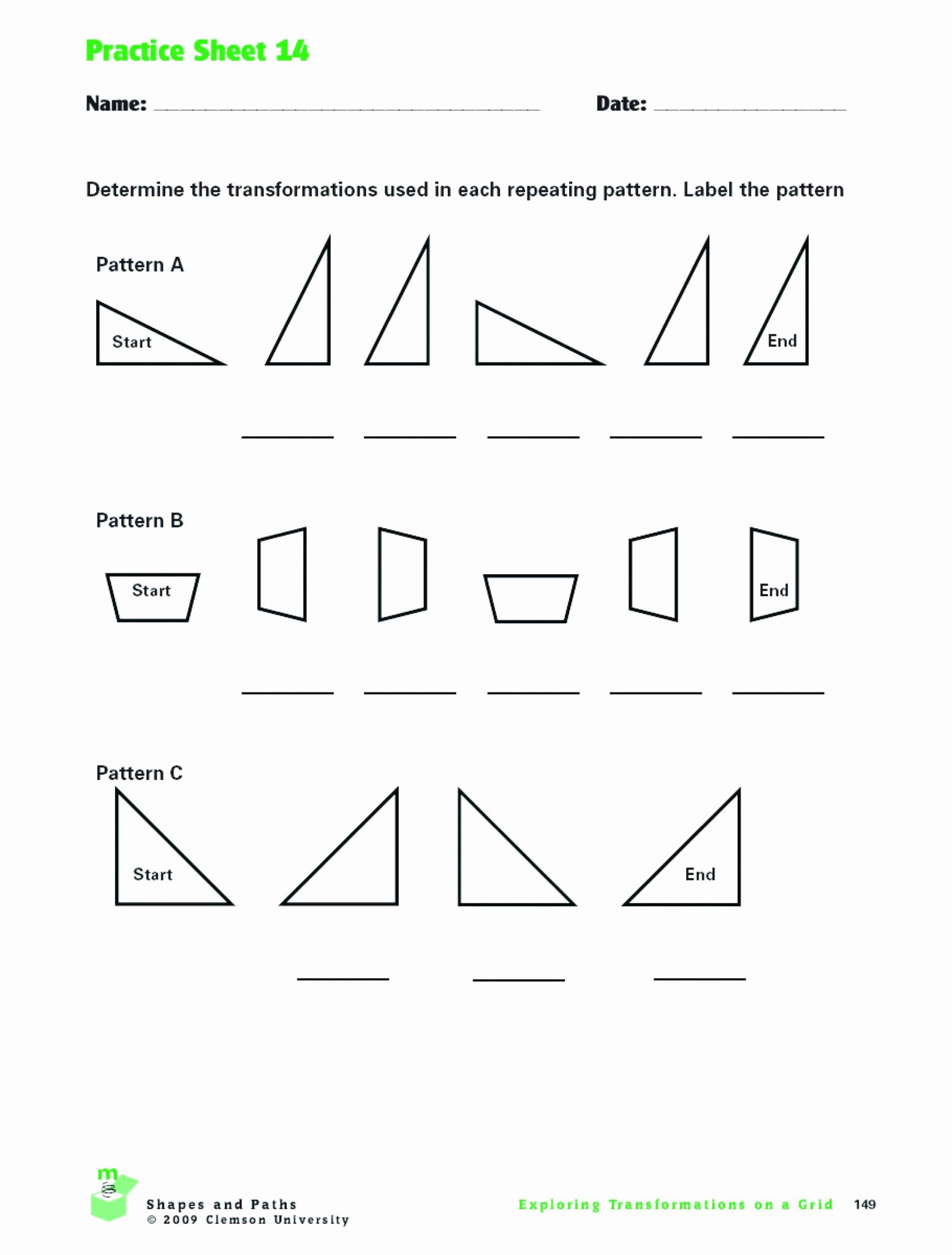 Reflection and Translation Worksheets Beautiful Translation Rotation Reflection Worksheet Answers