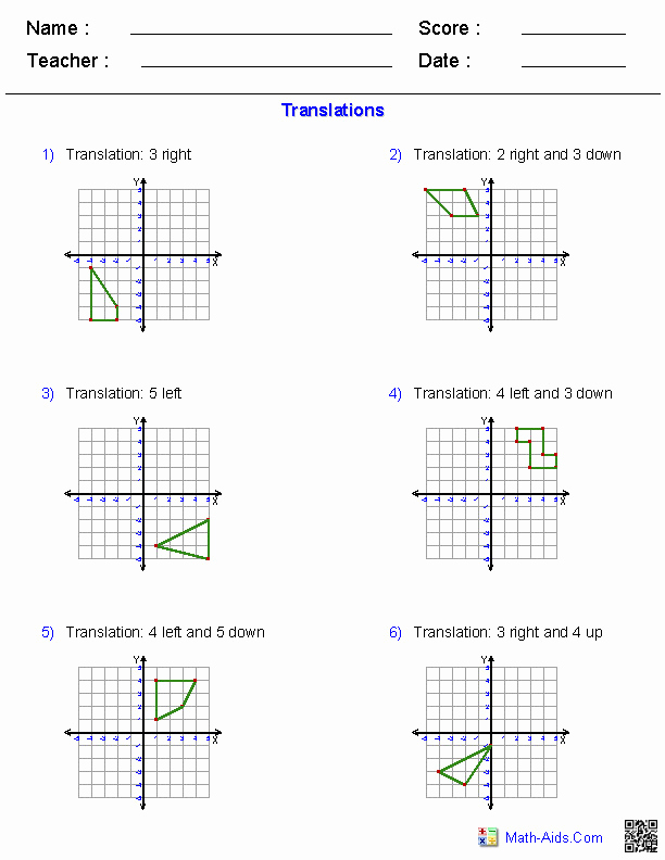 Reflection and Translation Worksheets Elegant Reflections Worksheet
