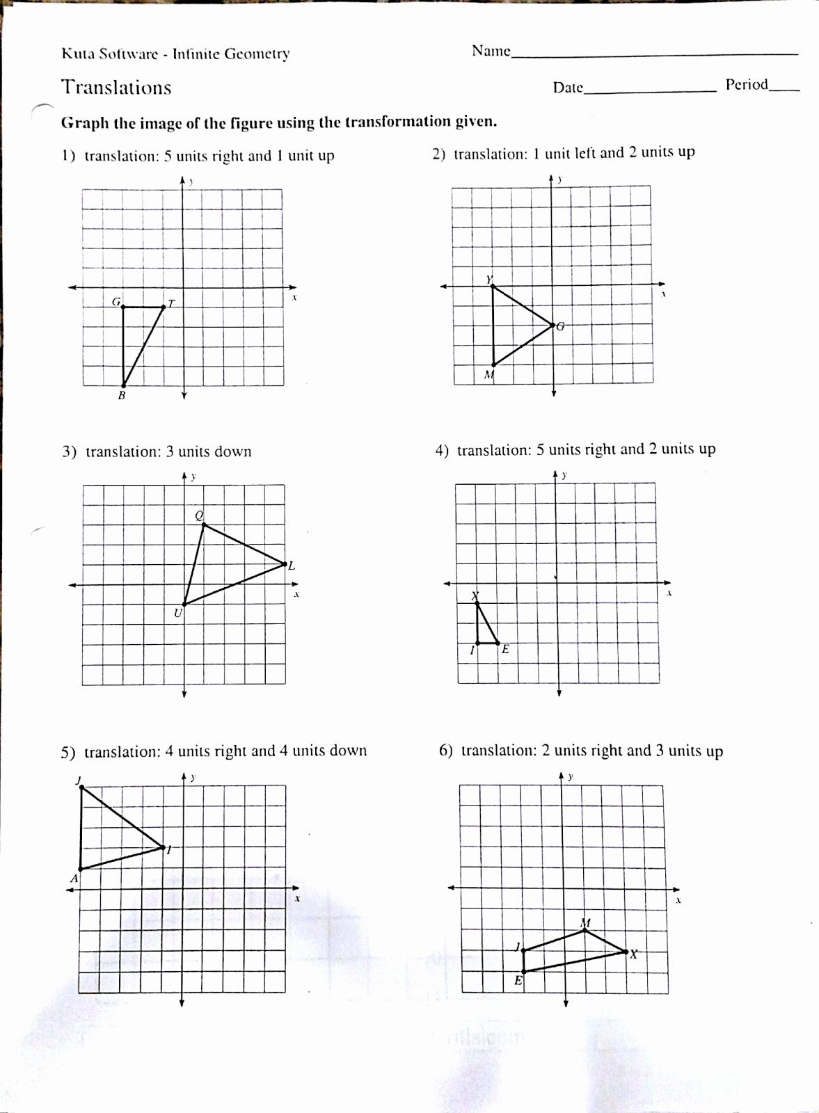 Reflection and Translation Worksheets Elegant Rotation Reflection Translation Worksheets