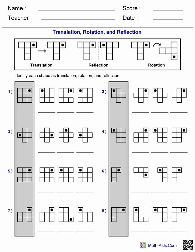 Reflection and Translation Worksheets Elegant Translation Rotation Reflection Worksheet – Hoeden