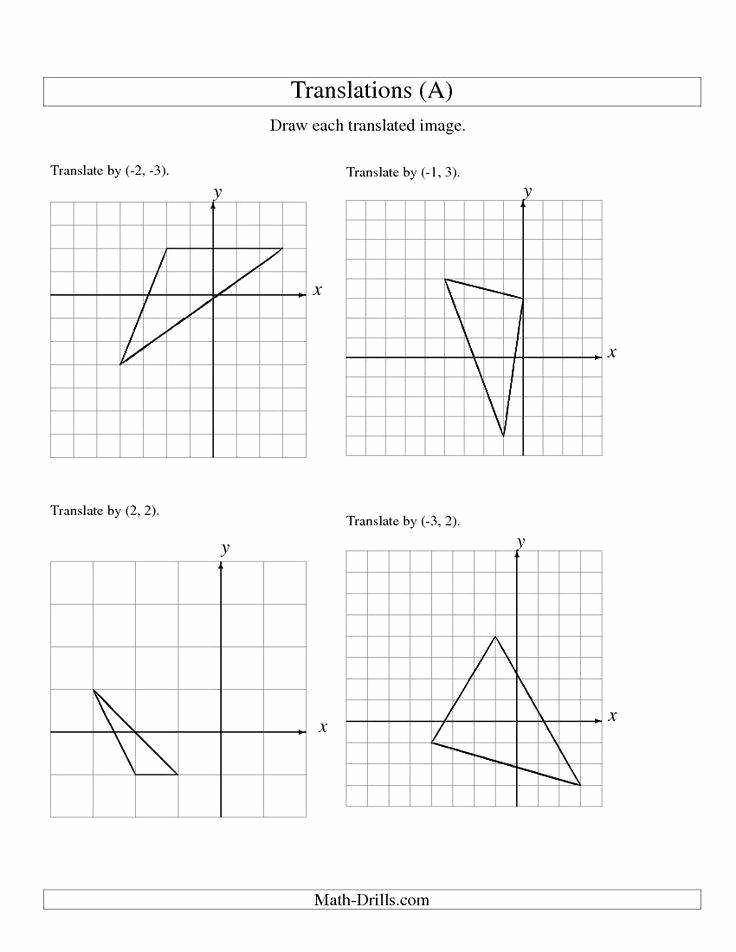 Reflection and Translation Worksheets Unique Reflection Worksheet