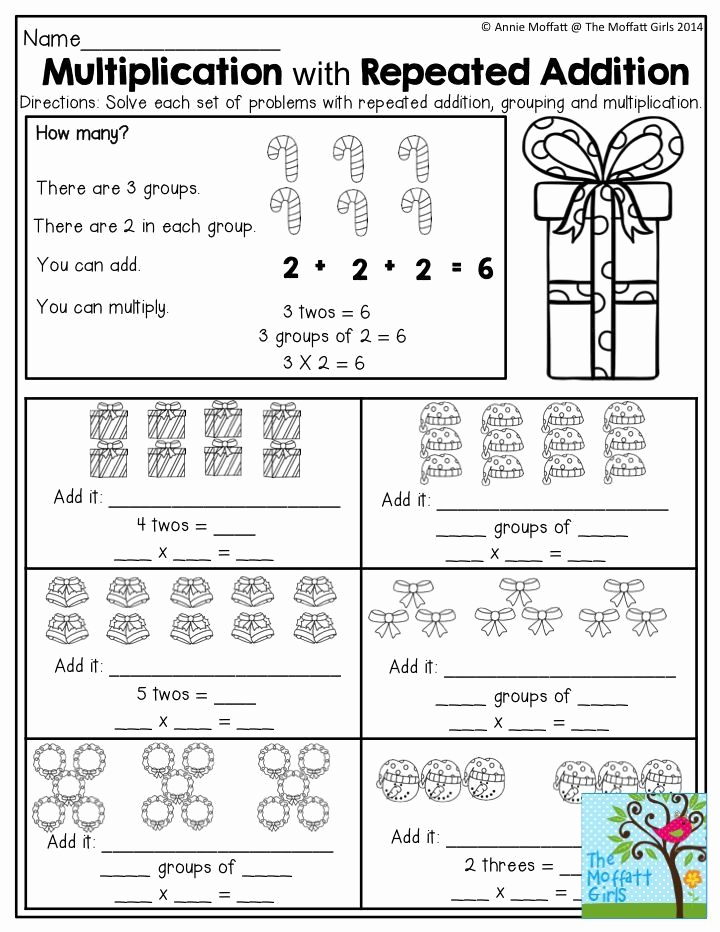Repeated Addition Worksheets 2nd Grade Beautiful December Fun Filled Learning with No Prep