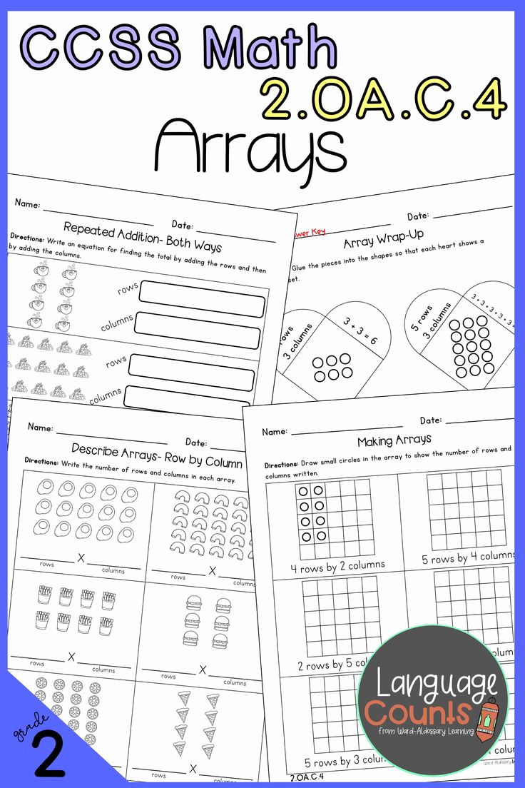 Repeated Addition Worksheets 2nd Grade Beautiful Distance Learning 2nd Grade Arrays & Repeated Addition