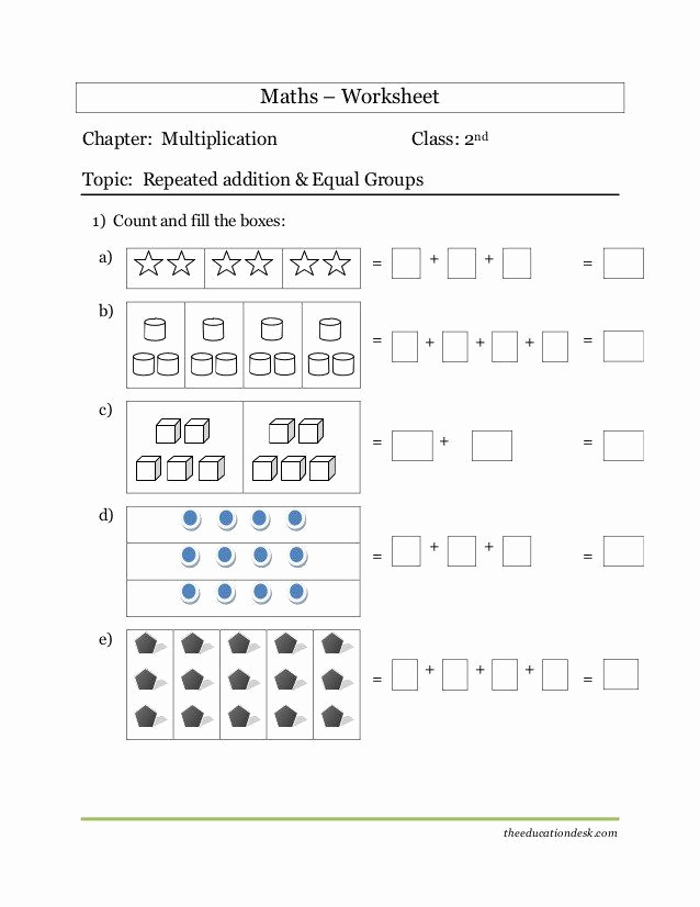 Repeated Addition Worksheets 2nd Grade Beautiful Repeated Addition Worksheets 2nd Grade Maths