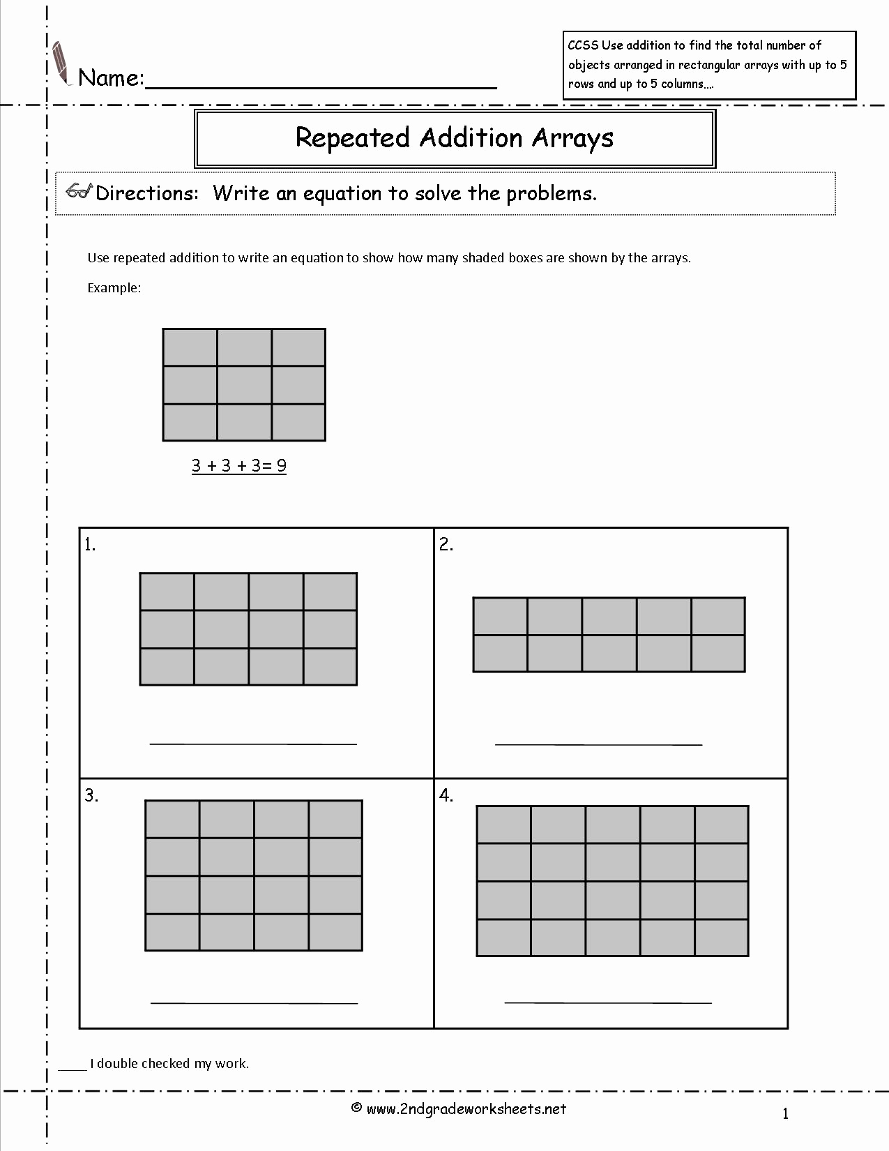 Repeated Addition Worksheets 2nd Grade Elegant 16 Best Of Repeated Addition Math Worksheets