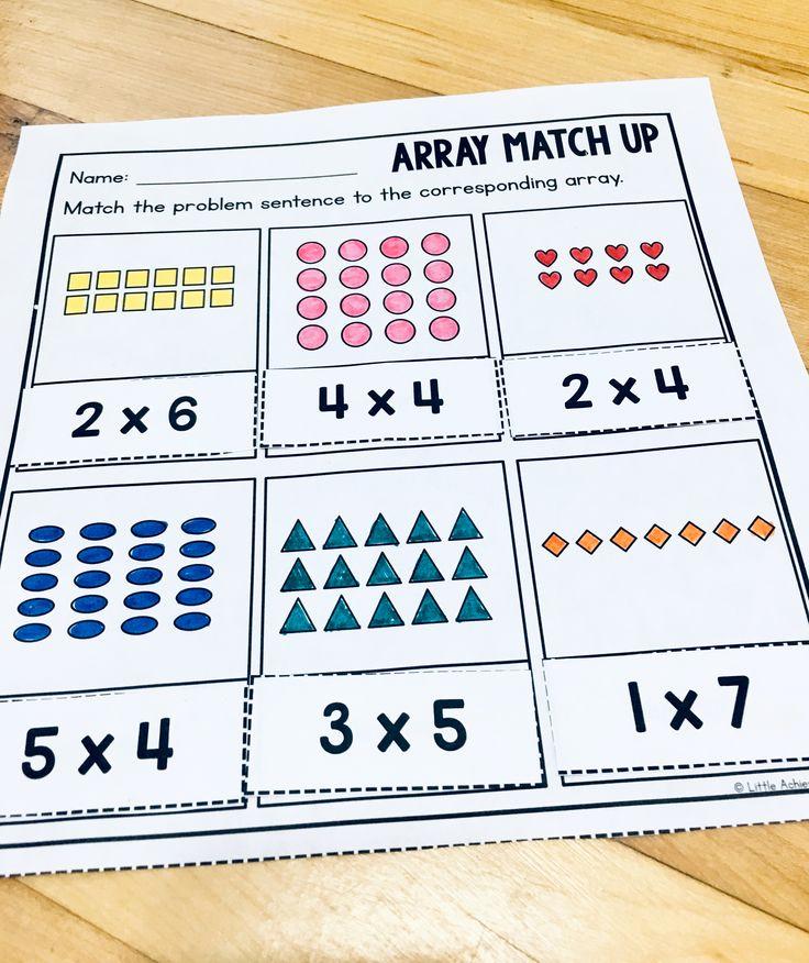 Repeated Addition Worksheets 2nd Grade Elegant Arrays Worksheets 2nd Grade