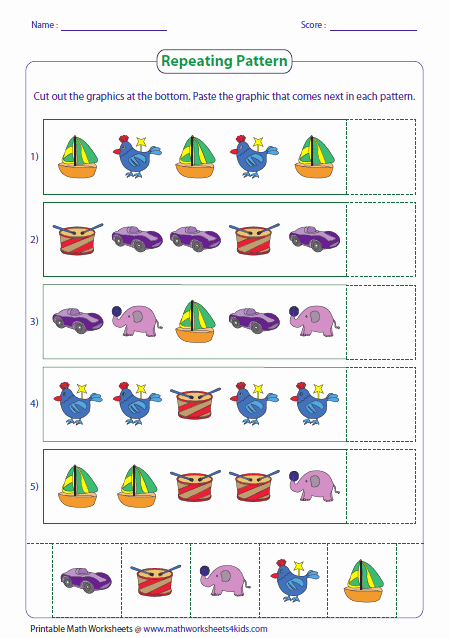 Repeated Pattern Worksheets Awesome Pattern Worksheets