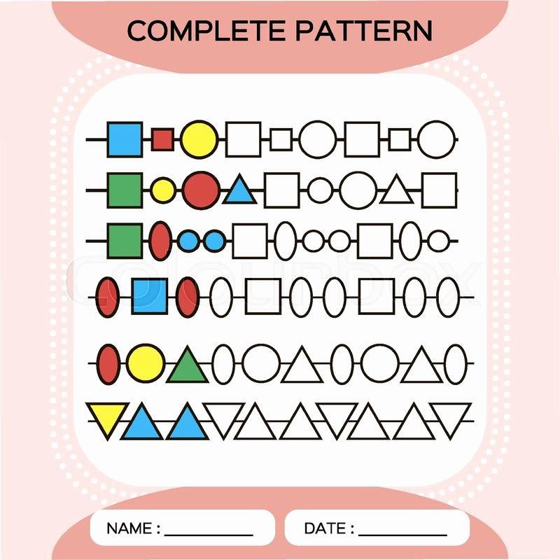 Repeated Pattern Worksheets Best Of Plete Repeating Patterns Worksheet